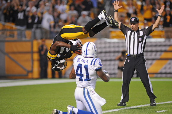 NFL 2012 - Indianapolis Colts loose to the  Pittsburgh Steelers 26-24
